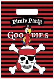 Piraten Uitdeelzakjes Versiering 23x16,5cm 6 stuks