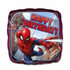 Folieballon Spiderman Happy Birthday - 45 cm