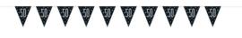 "Vlaggenlijn Black & Silver Glitz ""50"" - 275 cm"