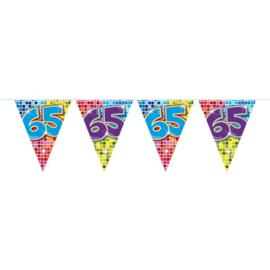 65 Jaar Mini Vlaggenlijn Birthday Blocks - 3 meter