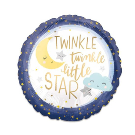 Folieballon 'Twinkle Little Star' (43cm)