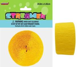 Crêpeguirlande geel smal 24 meter