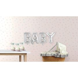 Zilveren Folie Ballonnen Set BABY