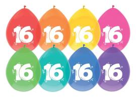 "Ballonnen ""16"" 30 cm - 8 stuks"