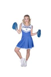 Blauwe Cheerleader Kostuum Dames
