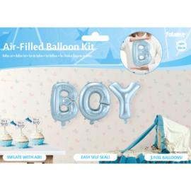 Babyblauwe Folie Ballonnen Set BOY