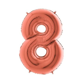 Cijfer 8 Rosé Goud - 100 cm