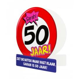 Wenskaarten - Sarah 50 Jaar Verkeersbord