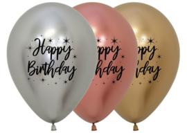 Ballonnen Happy Birthday Reflex (1st)