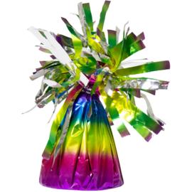Ballongewicht folie regenboog (180gr)