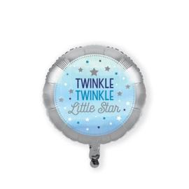 Folieballon 'Twinkle, Twinkle Little Star' Blauw - 46 cm