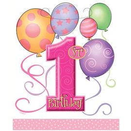 1e Birthday / Verjaardag uitdeelzakjes