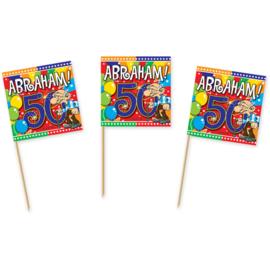 50 Jaar Abraham Knalfeest Prikkers - 50 stuks
