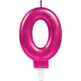 Verjaardag Kaars 0 jaar- Roze 7.5 cm