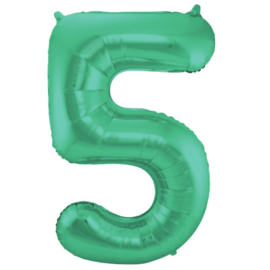 Cijfer 5 Groen Mat 86 cm