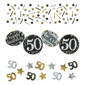 Confetti sparkling gold '50' (34gr)