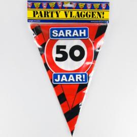 Vlaggenlijn Party 50 Jaar Sarah Verkeersbord