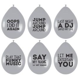 Ballonnen Song Quotes - 6 stuks