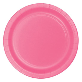 Bordjes candy pink (Ø23cm, 8st)