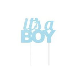 Creative Party Taarttopper It's a Boy - Blauw