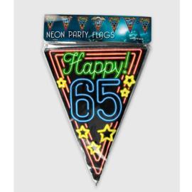 Vlaggenlijn Neon Happy 65 jaar