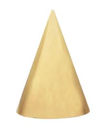 Hoedjes Festive Gold Glitter - 6 stuks