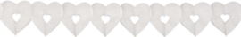 Slinger groot hart wit - 6 meter
