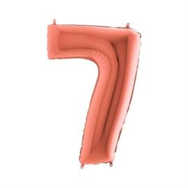 Cijfer 7 Rosé goud 100 cm