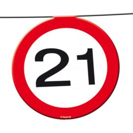 21 Jaar Verkeersbord Slinger - 12 meter