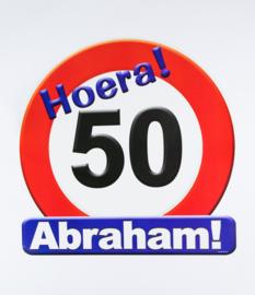 Huldeschild 50 jaar Abraham
