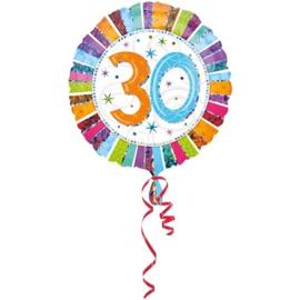 Folieballon 30 Jaar Metallic - 45 cm