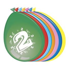 Latex Ballonnen 2 jaar 8 Stuks