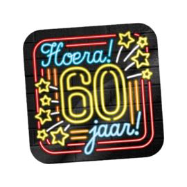 Huldeschild Neon 60 jaar