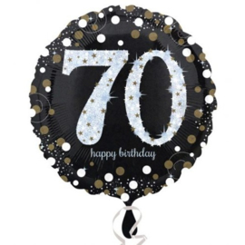 Folieballon 70 birthday sparkling 45 cm