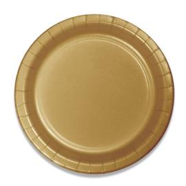 Bordjes glittering gold (Ø18cm, 8st)
