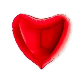 Folieballon hart rood XL - 91 cm