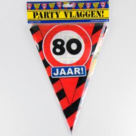 Vlaggenlijn Party 80 Jaar Verkeersbord