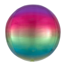 Folieballon Orbz Ombré Regenboog - 40 cm