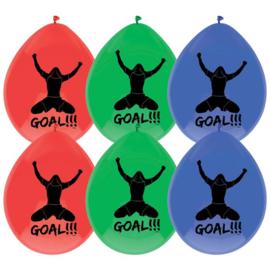 Ballonnen Goal - 6 stuks