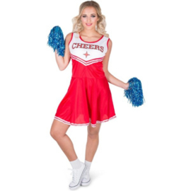 Cheerleader Jurk Rood/Wit