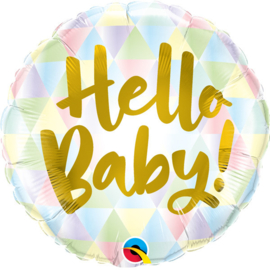 Folieballon Hello Baby Pastel Triangles - 46 cm