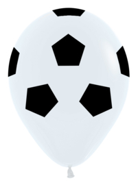 Latex Ballon Voetbalprint (1st)