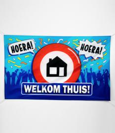 Gevel vlag - Welkom thuis - 90 x 150 cm