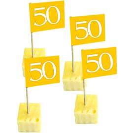50 Jaar Gouden Vlagprikkers - 50 stuks