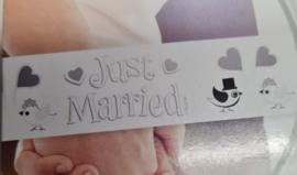 Afzetlint Just Married - 10 meter
