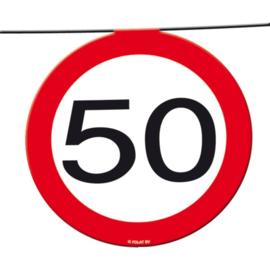 50 Jaar Verkeersbord Slinger 12 meter