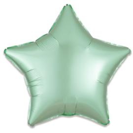 Folieballon ster satin mintgroen - 43 cm