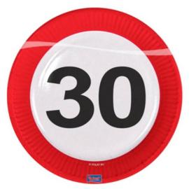 30 Jaar Verkeersbord Borden - 8 stuks