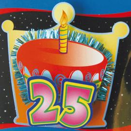 3D Button 25 Jaar