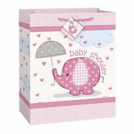 Baby Shower Olifant Tas Pink